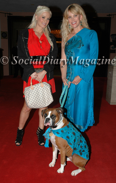 Holly Madison of Holly's World and ex-girlfriend of Hugh Hefner with Margo Schwab dressed in Jordan and Pamela Pogue Juelerie and Kima dressed in Jordan animal fashion
