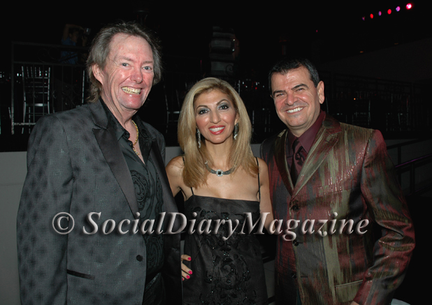 David Copley with Abeer and George Hage