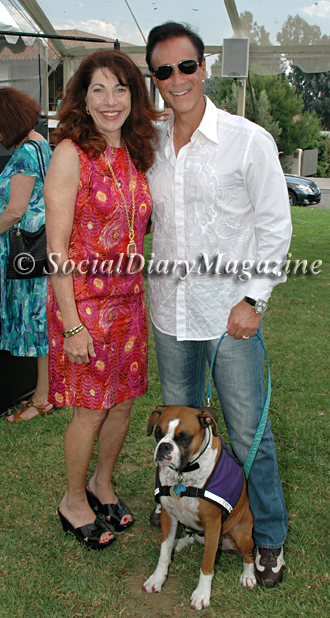 Rana Sampson of San Diego Center for Children with Social Diary Magazine's Scott Johnston and Kima the Celebrity Service Dog
