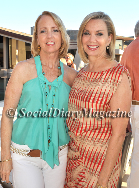 Sheryl White and Karen Cohn dressed perfectly for a summer party