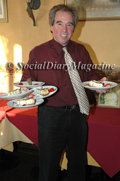 pasquale of cafe milano in la jolla with desserts