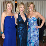 Amy with Margo Schwab and Carrie in Nicole Miller fashion at La Valencia Hotel