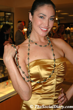 model wearing prince dimitri's jewelry