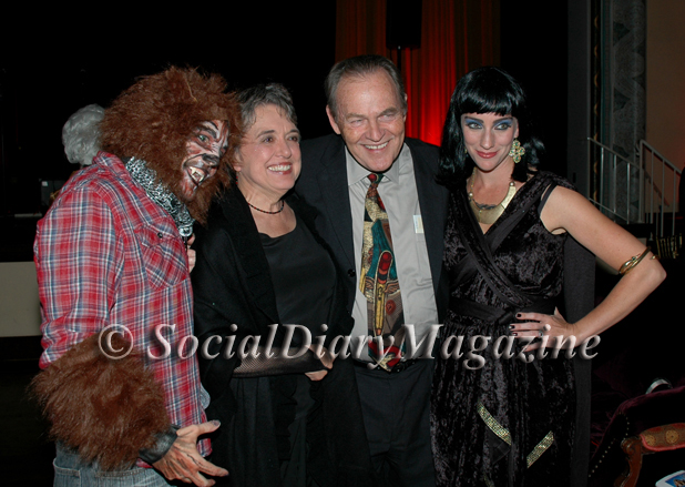 Pam and Hal Fuson with friends from the cast