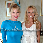 Margo Schwab and Pamela Anderson at the USO Gala