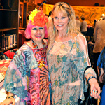 Zandra Rhodes and Margo Schwab at Athenaeum event 2011